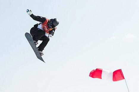 Enni Rukajärvi slopestylen harjoituksissa.