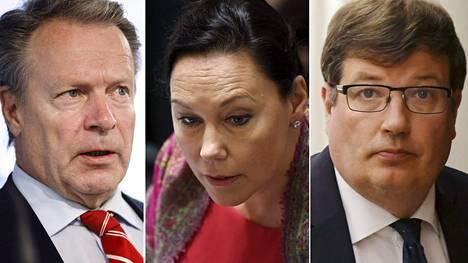 Puhemieskisaan ovat ilmoittautuneet kokoomuksen Ilkka Kanerva, Anne-Mari Virolainen ja Arto Satonen.