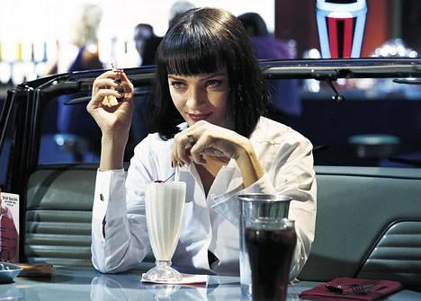 Uma Thurman tekee yhden naisrooleista Pulp Fiction -elokuvassa.