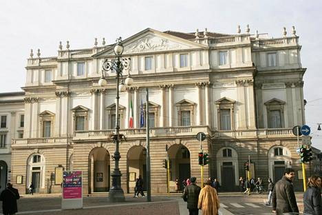 La Scala -teatteri Milanossa on maailmankuulu oopperatalo.