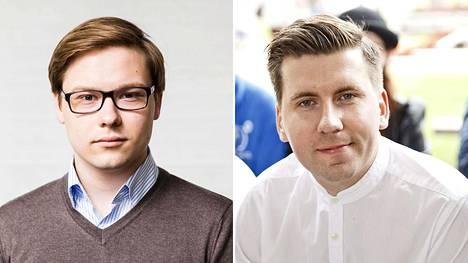 Daniel Sazonov (vas.) ja Sebastian Tynkkynen.