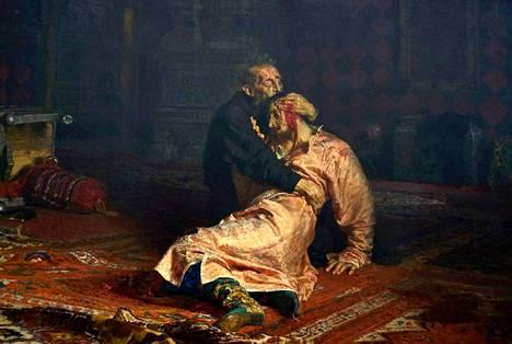 Iivana Julma ja hänen poikansa Ivan 16. marraskuuta 1581 on yksi Ilja Repinin tunnetuimpia maalauksia. Se on hyökkäyksen jäljiltä restauroitavana, eikä sitä siksi nähdä Ateneumin näyttelyssä.