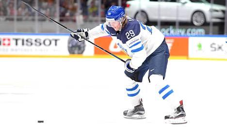 Patrik Laine teki keväällä miesten MM-kisoissa seitsemän maalia.