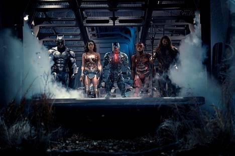 Justice League -elokuva kokosi yhteen DC:n sankarit Batman (Ben Affleck), WOnder Woman (Gal Gadot), Cyborg (Ray Fisher), Flash (Ezra Miller ) ja Aquaman (Jason Momoa).