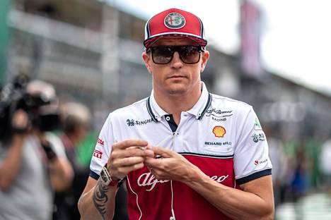 Kimi Räikkönen kuvattuna viime vuonna Monzan gp:ssä.