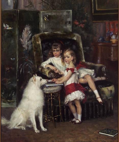 Albert Edelfelt: Aleksanteri III:n lapset Mihail ja Ksenia.