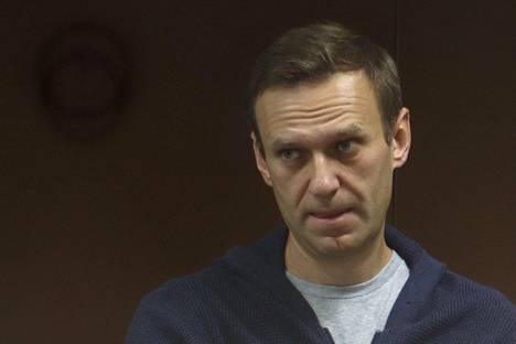 Aleksei Navalnyi 12. helmikuuta kuulemistilaisuudessa Moskovassa.