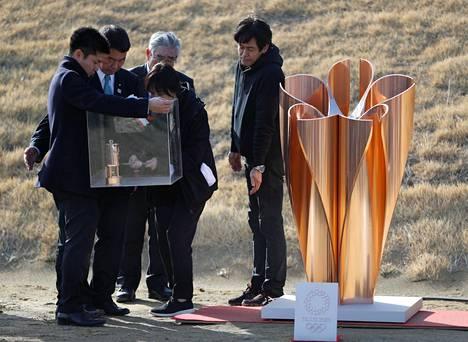 Olympiatuli saapui perjantaina Tokioon.