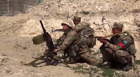 Azerbaidžin taistelijoita oli asemissa Vuoristo-Karabahissa.
