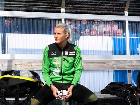 Kolmiloikkaaja Kristiina Mäkelä kilpaili Lapinlahden Eliittikisoissa 19. heinäkuuta.