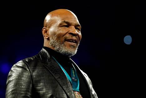 Mike Tyson oli seuraamassa Deontay Wilderin ja Tyson Furyn kohtaamista Las Vegasissa helmikuussa.