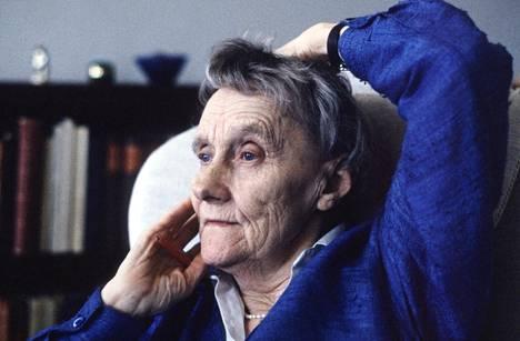 Astrid Lindgren vuonna 1987, kuvattuna juuri ennen hänen 80-vuotispäiväänsä.