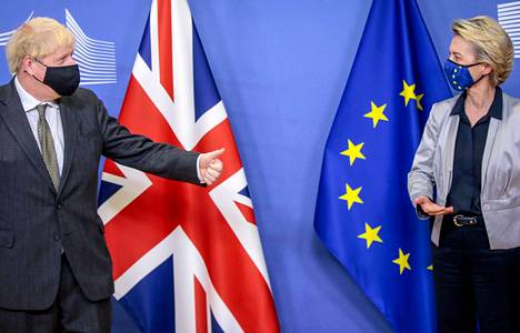 Britannian pääministeri Boris Johnson ja EU-komission puheenjohtaja Ursula von der Leyen tapasivat viime viikolla Brysselissä.