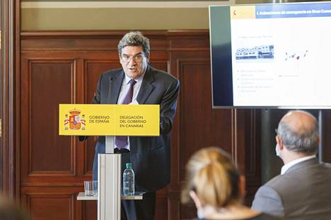 Spanish Minister of Immigration José Luis Escrivá spoke during his visit to Gran Canaria on Friday.
