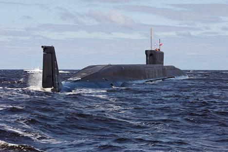 Venäläinen ydinsukellusvene Juri Dolgoruki.