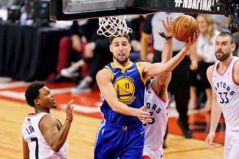 Klay Thompson oli finaalisarjan toisessa ottelussa Warriorsin paras pistemies.