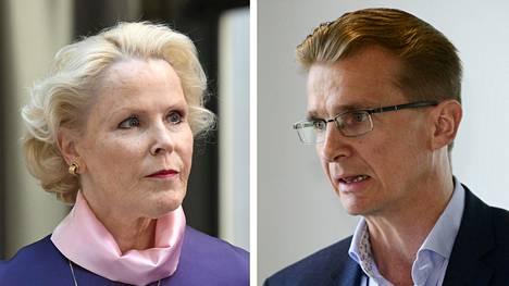 Finanssivalvonnan johtaja Anneli Tuominen ja Ilmarisen toimitusjohtaja Jouko Pölönen.
