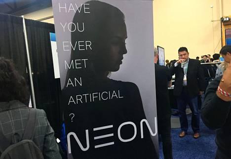 Samsung julkisti uuden Neon-tekoälyn elektroniikkamessuilla Las Vegasissa.