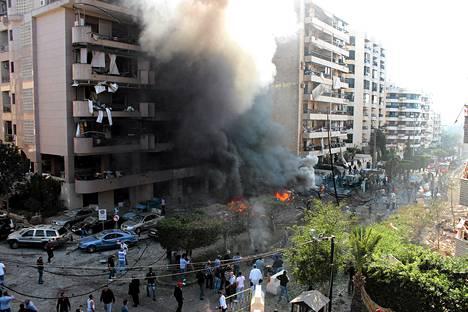 Bir Hassanin alueelle, lähelle Iranin lähetystöä, tehtiin tuhoisa autopommi-isku Beirutissa Libanonissa maanantaiaamuna.