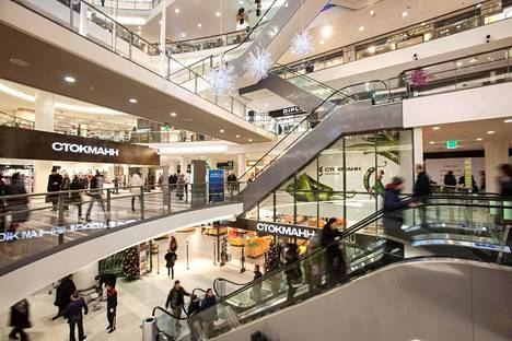 Nevsky Centre -kauppakeskus sijaitsee Pietarin keskustassa.