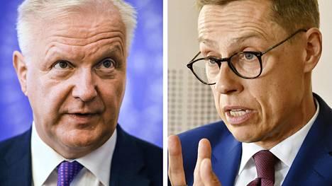 Olli Rehn ja Alexander Stubb.