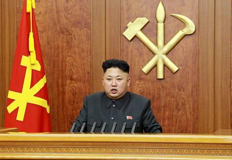 Pohjois-Korean johtaja Kim Jong-un muun muassa varoitti ydinsodasta uudenvuodenpuheessaan.