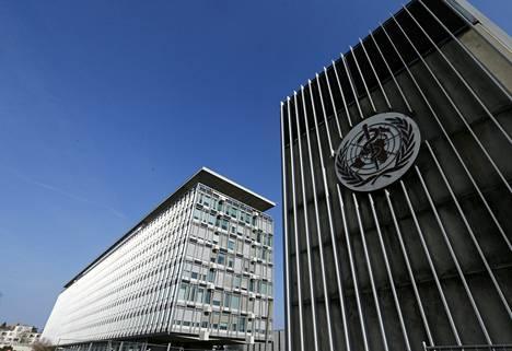 Maailman terveysjärjestön Who:n pääkonttori Genevessa.
