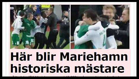 Ruutukaappaus ruotsalaisen Aftonbladet-lehden sivulta.