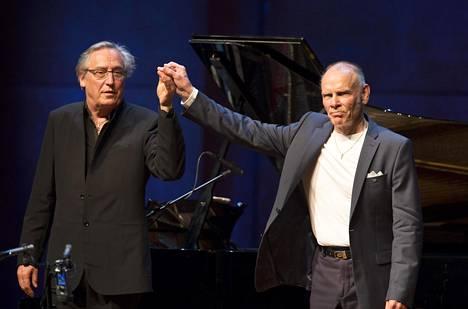 Ralf Gothóni ja Jorma Hynninen konsertin jälkeen.