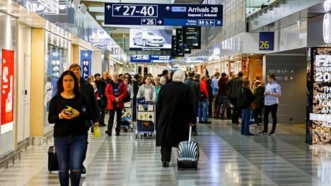 Helsinki-Vantaa lentoaseman kansainvälinen alue.