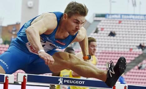 Elmo Lakka juoksi viidennen peräkkäisen voittonsa Ruotsi-ottelussa.