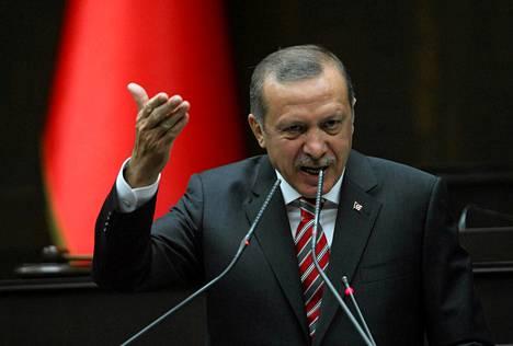 Turkin pääministeri  Recep Tayyip Erdogan.