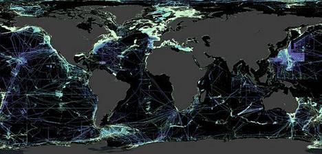 Musta kuvaa mertenpohjia, joita ei ole vielä kartoitettu.