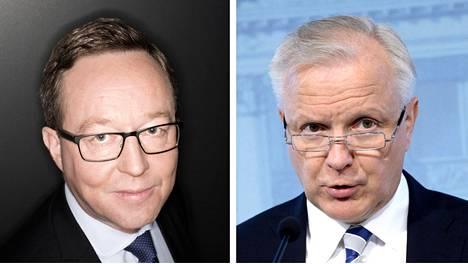 Mika Lintilä (vas.) ja Olli Rehn
