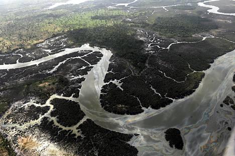 Niger-joen suistoalue Nigeriassa on öljyvuotojen saastuttama.