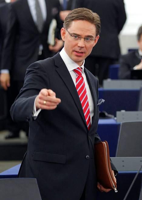Pääministeri Jyrki Katainen (kok) puhui EU-parlamentissa tiistaina.