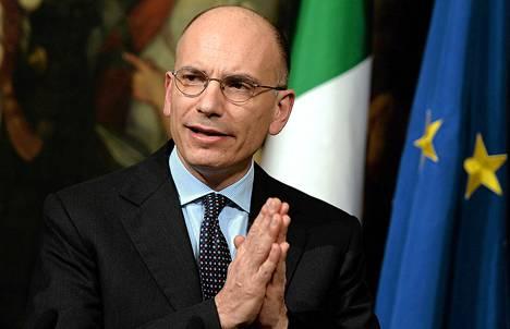 Italian pääministeri Enrico Letta tiedotustilaisuudessa keskiviikkona.