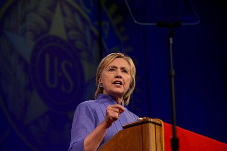 Presidenttiehdokas Hillary Clinton Ohion Cincinnatissa 31. elokuuta.