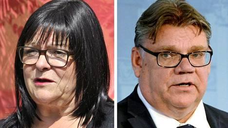 Maria Tolppanen ja Timo Soini