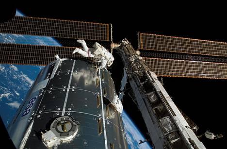 Euroopan avaruusjärjestön laboratorioyksikkö pääsi kiertoradalle Atlantis-avaruussukkulan kyydissä vuonna 2008.