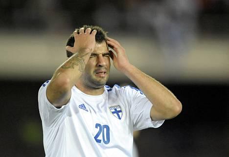 Alexei Eremenko pettyi omaan hölmöilyynsä lokakuun Georgia-pelissä.