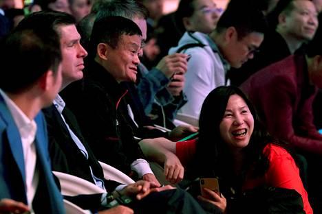 Alibaban perustaja Jack Ma osallistui sunnuntaina Singles' Day -kampanjan avajaistilaisuuteen Shanghaissa.