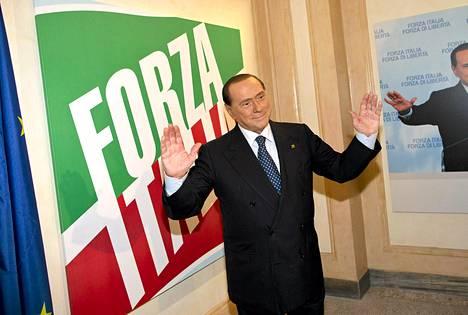 Silvio Berlusconi kuvattuna syyskuun puolivälissä.