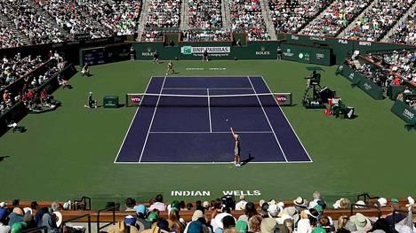 Indian Wells kerää vuosittain yli 400000 tennisfania Kaliforniaan.