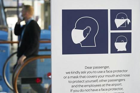 Eri maissa on voimassa erilaisia ohjeita ja määräyksiä koronaviruksen leviämisen estämiseksi, ja ne saattavat muuttua nopeastikin. Helsinki-Vantaan lentokentällä kehotettiin ihmisiä käyttämään kasvomaskia.
