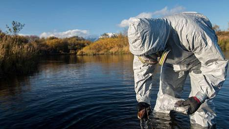Venäjän Greenpeace keräsi Kamtšatkasta näytteitä.