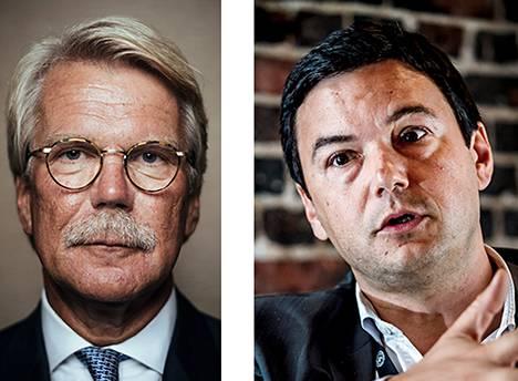 Björn Wahlroos ja Thomas Piketty.