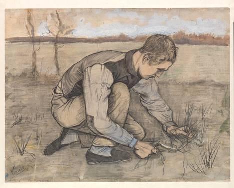 Vincent van Gogh: Poika ja sirppi, 1881.