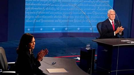 Yhdysvaltain varapresidentti Mike Pence ja senaattori Kamala Harris kohtasivat varapresidenttiehdokkaiden vaaliväittelyssä Salt Lake Cityn kaupungissa Utah'n osavaltiossa.