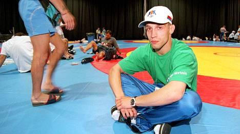 Mikael Lindgren ei päässyt painimaan Atlantassa. Kuva on otettu Atlantan olympialaisissa 19. heinäkuuta 1996.